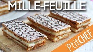 Recette de mille-feuille à la vanille - Ptitchef.com