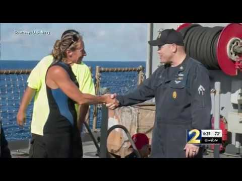 Navy ship rescues 2 women lost for 5 months on the Pacific