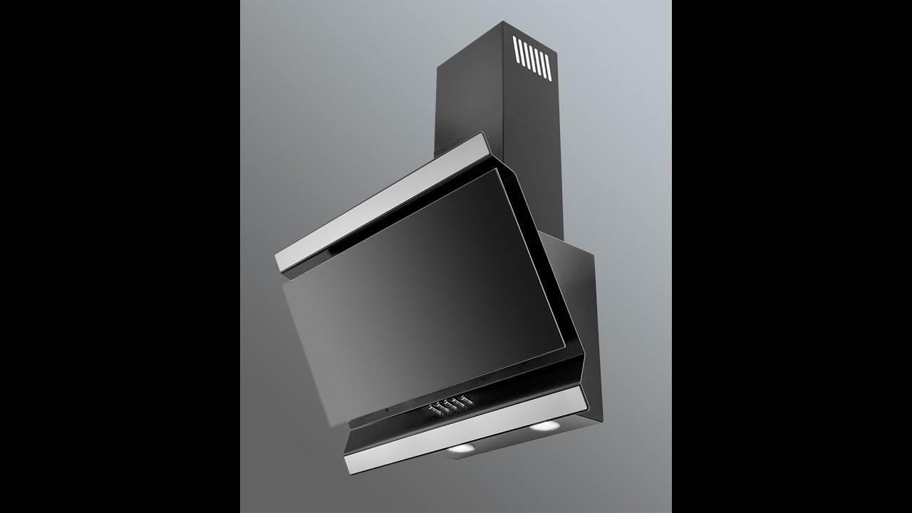 ison angled kitchen extractor luxair cooker hoods youtube. Black Bedroom Furniture Sets. Home Design Ideas