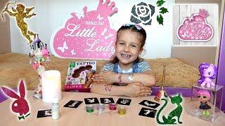 Как сделать блестящие  детские татуировки! Алиса и бьюти влог урок школа маленькой леди