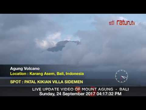 Mount Agung The volcano in Bali live real time ( Gunung Agung Recorded Version ) 24092017 - II