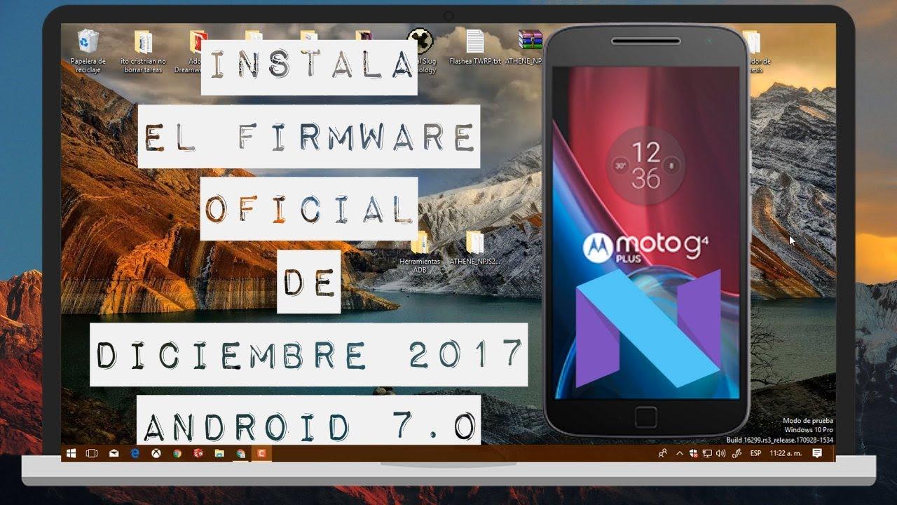 comandos instalar firmware moto g4 plus