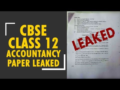 CBSE Class 12 Accountancy question paper leaked on WhatsApp and social media