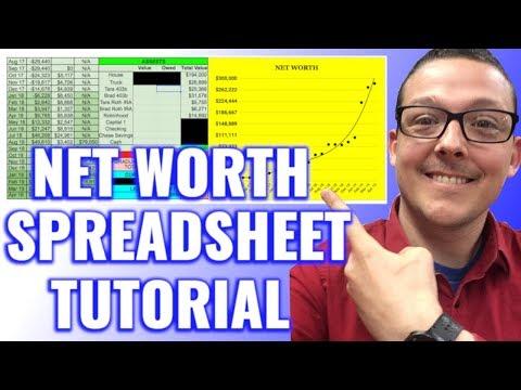 My Net Worth Spreadsheet Tutorial | Google Sheets