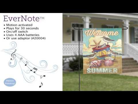 Evernote™ Garden Flag - 14EN3421 Welcome Summer Coastal
