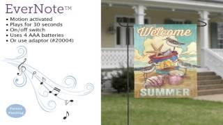 Evernote™ Garden Flag - 14EN3421 Welcome Summer Coastal Thumbnail