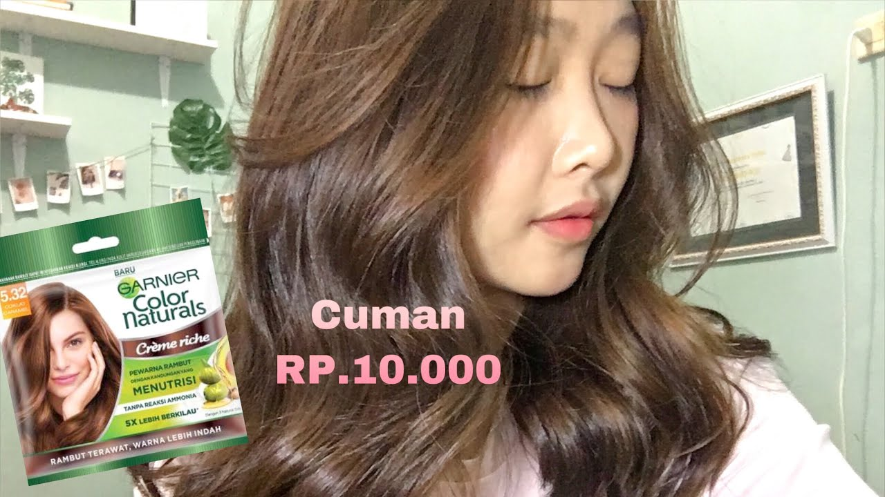 REVIEW garnier ultra natural color COKLAT CARAMEL YouTube