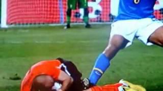 Olanda- Brasile calcio ed espulsione felipe melo