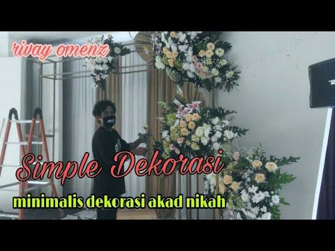 minimalis dekorasi akad nikah - youtube