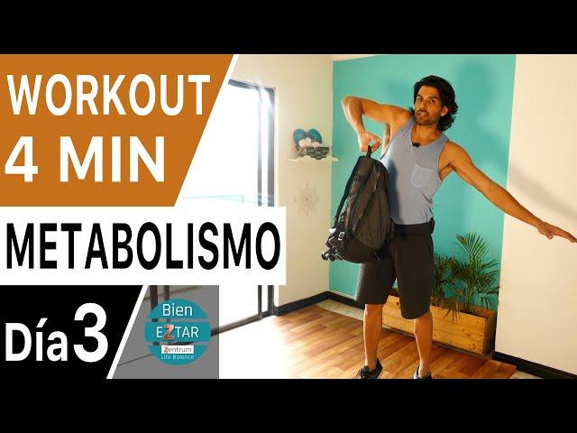 ACELERA TU METABOLISMO | Quemar grasa  - 3 movimientos nuevos  | Semana de Metabolismo - Día 3
