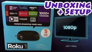 """Roku 1"" FULL 1080p HD Streaming Device - Unboxing & Setup 2710X"