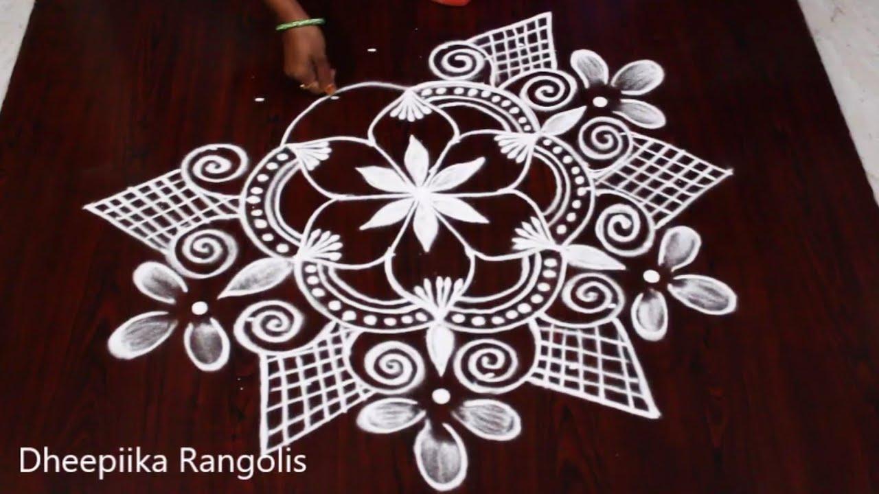 Navarathri/Dussehra Freehand Kolam by Justnotrangoli Thilagalakshmi