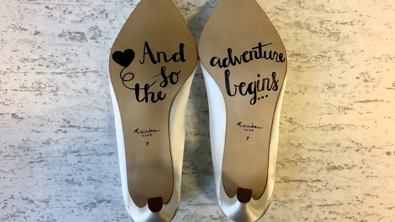 40e1a5165503 DIY BRIDE  How to say  I Do  from the bottom of your shoe - YouTube