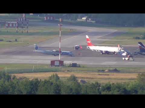 Аэропорт Стригино с откоса в п Окский 05 07 18
