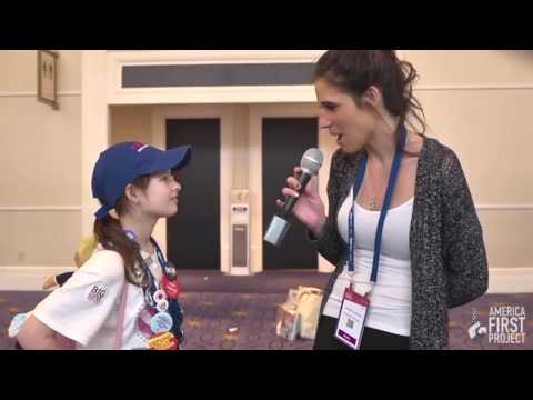 """Amazing! She is only 11 years old """"America First Project"""" girl"""