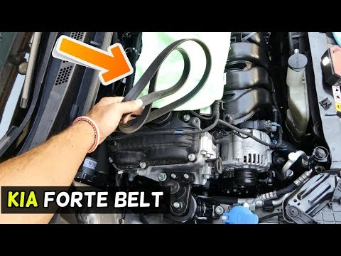 HOW TO REPLACE SERPENTINE BELT ON KIA FORTE