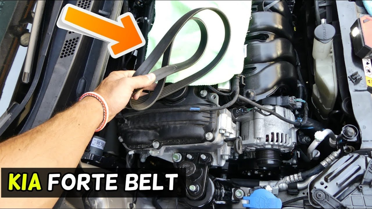 how to replace serpentine belt on kia forte [ 1280 x 720 Pixel ]