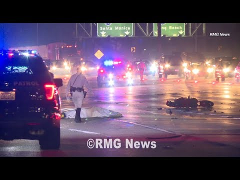 Motorcycle rider killed after crash on the 110 freeway in Carson,  California