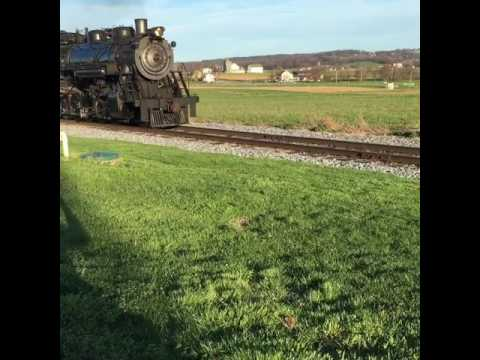 Strausburg Pennsylvania steam engine passenger train ride