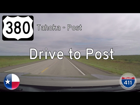 US Highway 380 - Tahoka - Post - Texas | Drive America's Highways 🚙