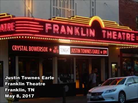 Justin Townes Earle Franklin Theatre Franklin, TN May 8, 2017
