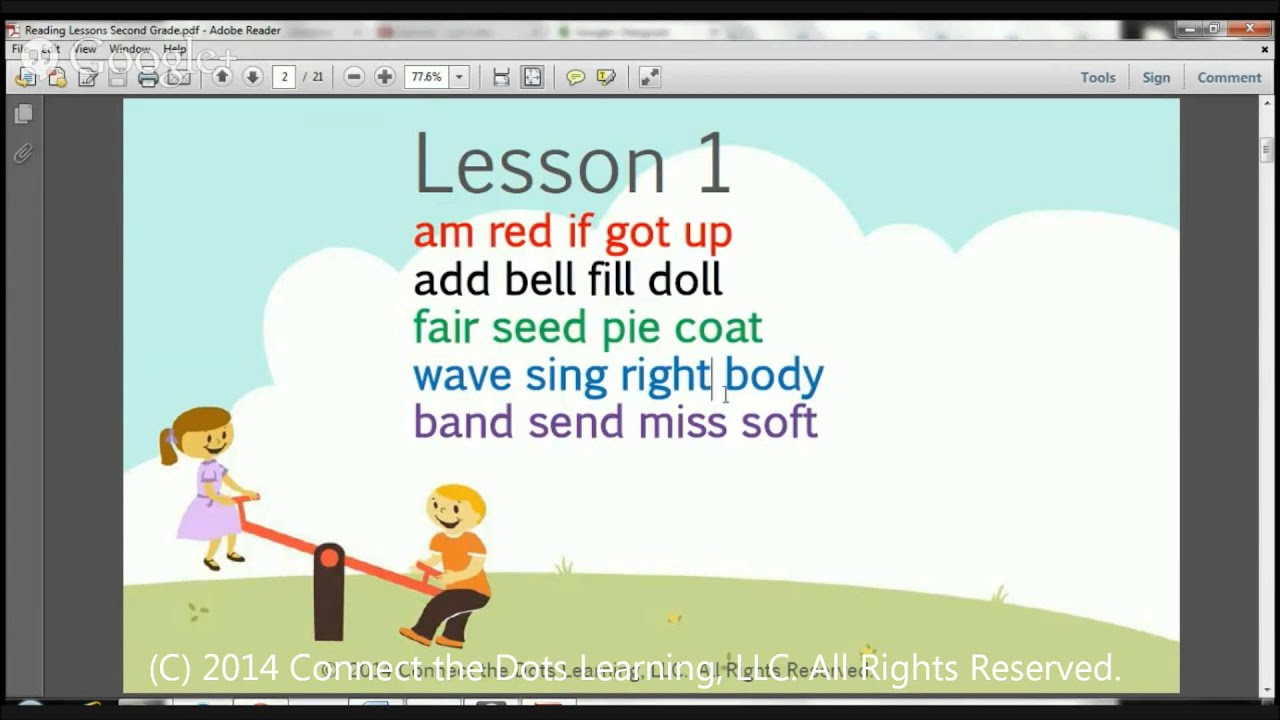 Second Grade Reading Lesson 1 Youtube