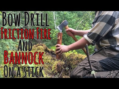 Bushcraft: Bow Drill Friction Fire IN THE RAIN