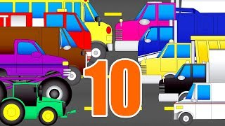 Have Fun Counting to 10 - Counting Trucks for Toddlers
