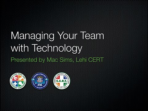 Managing your CERT Team with Technology