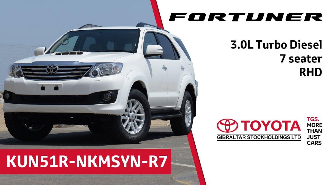 Toyota Fortuner - 3.0L Turbo Diesel - 7 seater - RHD - YouTube