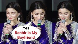 Alia Bhatt BLUSHES When Asked About Bf Ranbir Kapoor At Kalank Trailer Launch