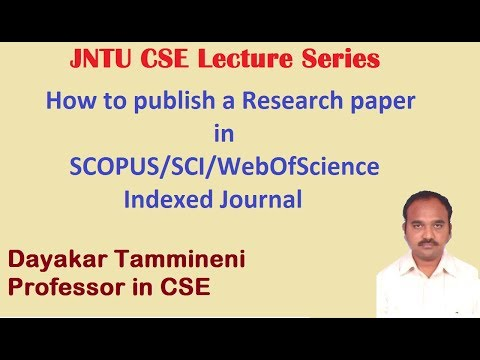 How To Publish A Research Paper In Scopus Sci Webofscience Indexed Journal