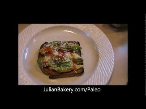Avocado & Coconut Nectar On Paleo Bread