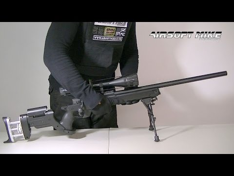 WELL MB05 AIRSOFT SNIPER RIFLE / Unboxing / Review / Shooting Test