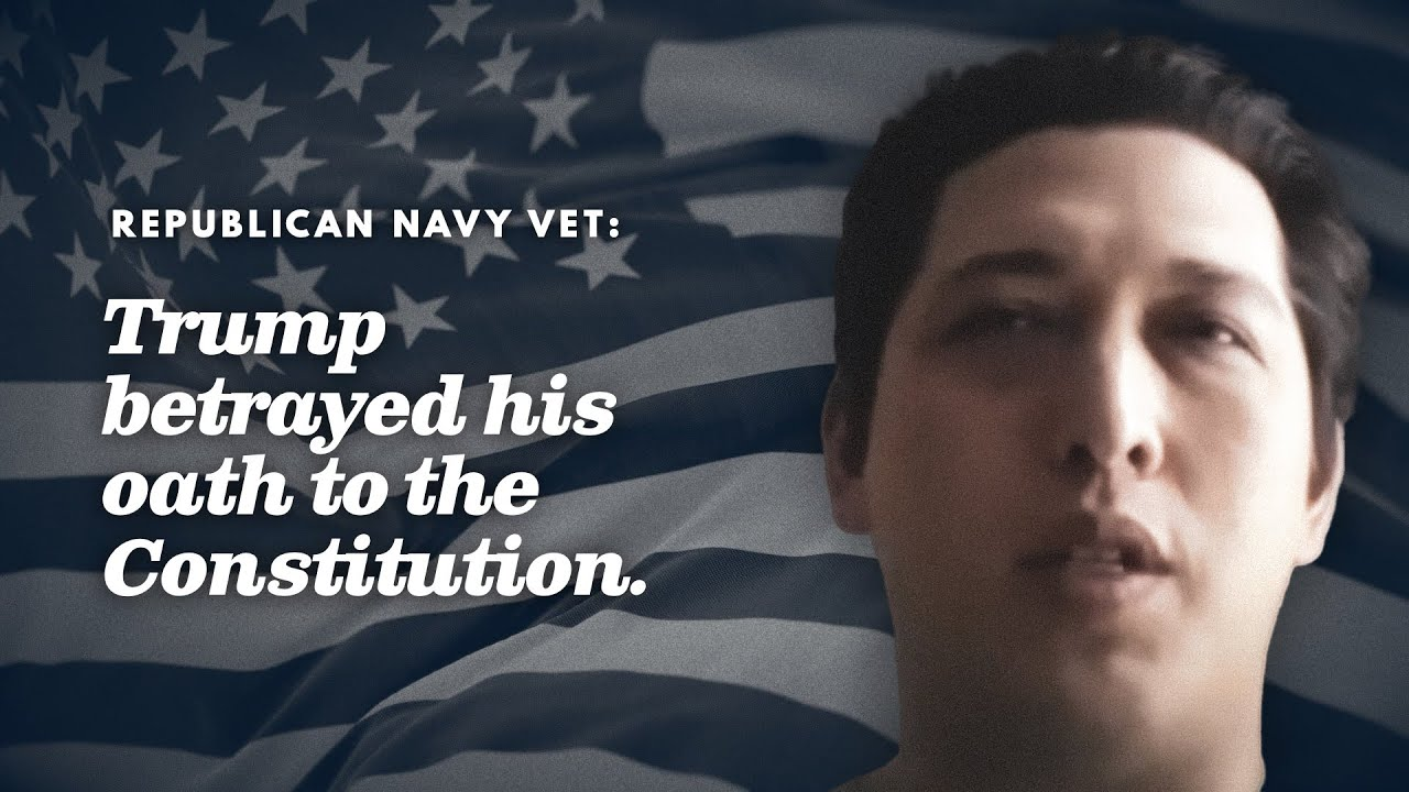 Glenn served 8 years in the Navy. He knows that President Trump has broken his oath of office.