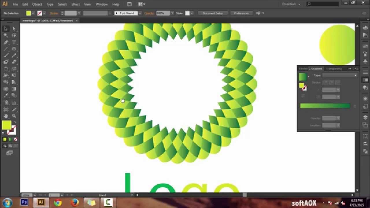 Geometric Flower Effect Logo in Illustrator CS6 & CC