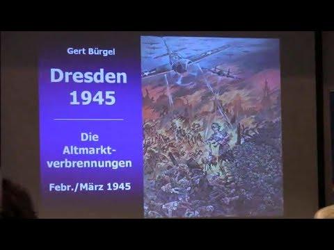 75 Jahre Bombardierung Dresden. Vortrag mit Heimatforscher Gert Bürgel. AfD. J.A Dresden