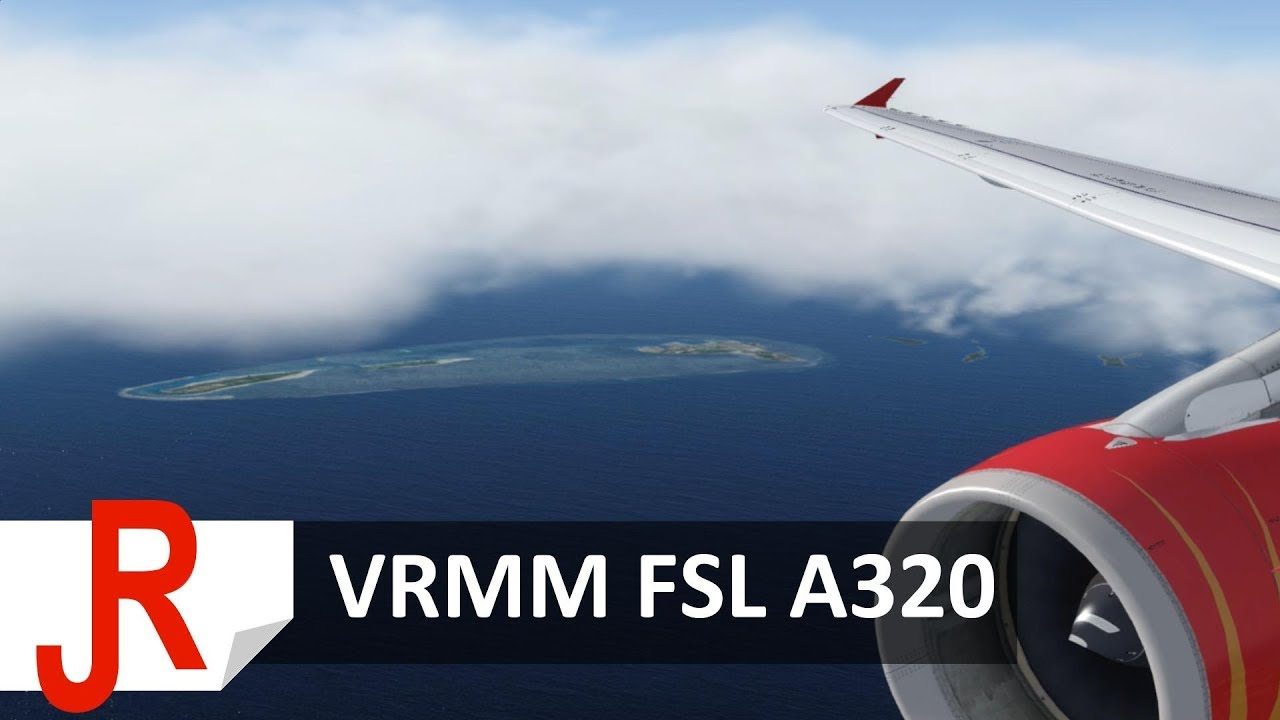 Stunning Approach into the Maldives | VRMM FSL A320 | P3Dv4