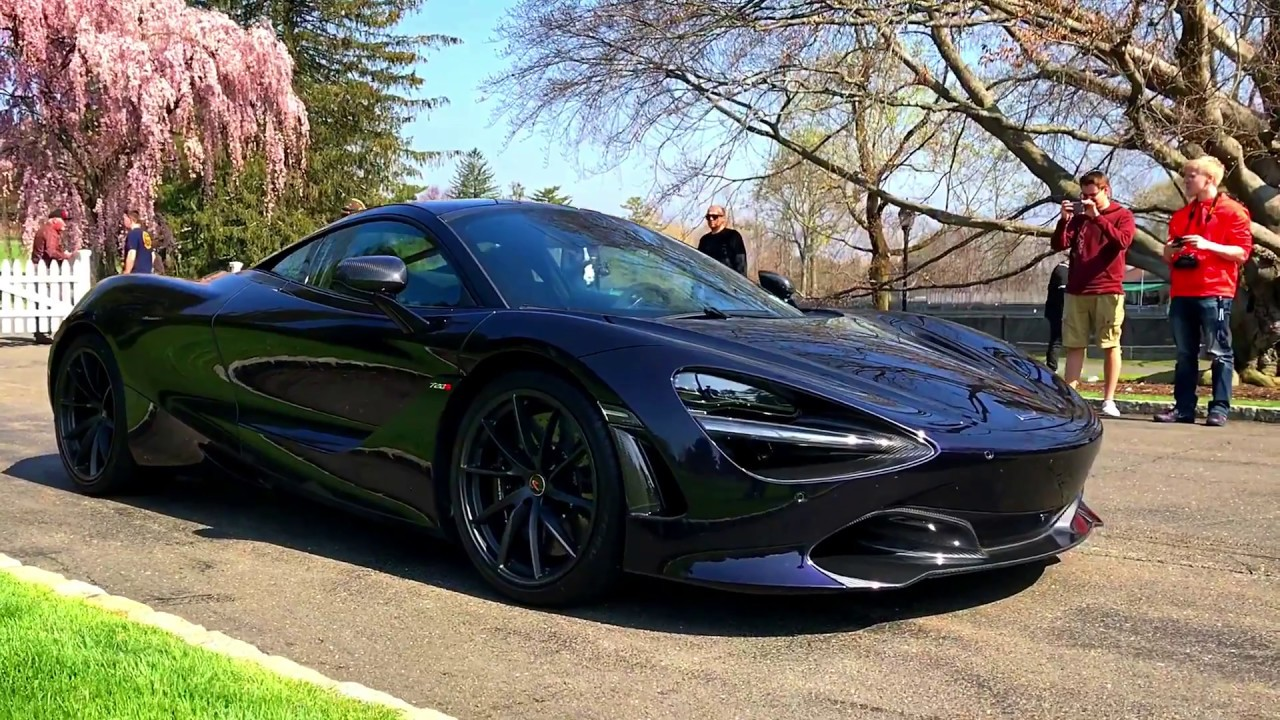 presenting mclaren 720s in amethyst black - fairview country club