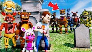QUICK! HIDE FROM THE EVIL NIGHTMARE ANIMATRONICS! (GTA 5 Mods For Kids FNAF RedHatter)