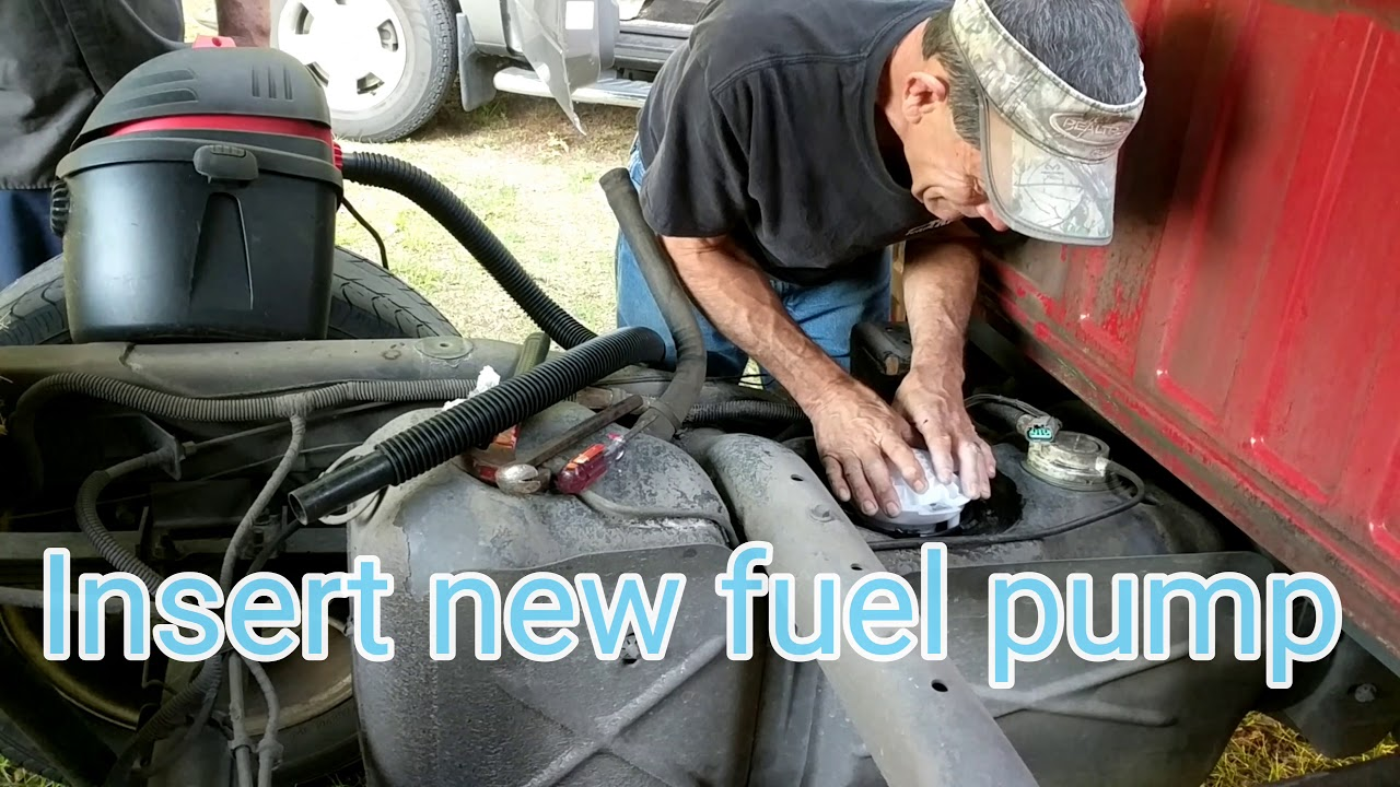 How To Change A Dodge Ram Fuel Pump Youtube 2003 Filter Location