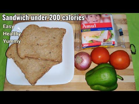 Healthy Sandwich Recipe for Weight Loss/ Sandwich under 200 calorie/ Quick Sandwich Recipe