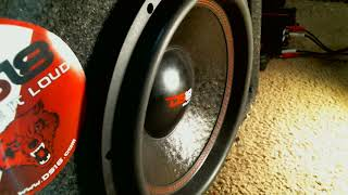 DS18 SELECT 12-inch subwoofer playing slow bass excursion deep frequencies