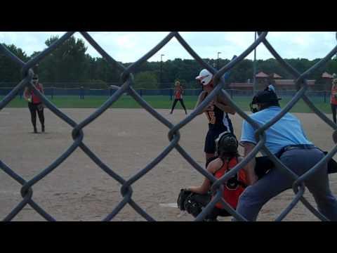 ASA Softball Highland Orange Crush Pitcher Kayla G...