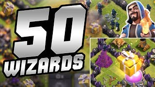 AANVALLEN MET 50 WIZARDS! - CLASH OF CLANS NEDERLANDS NL [#43]