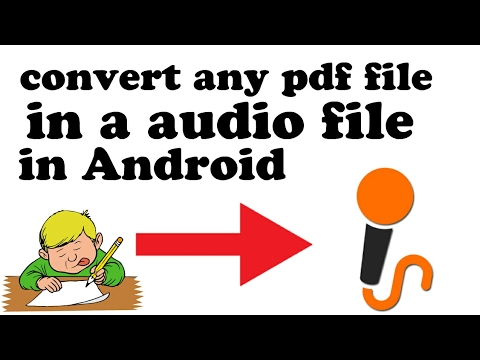 Convert any pdf file in audio file in android