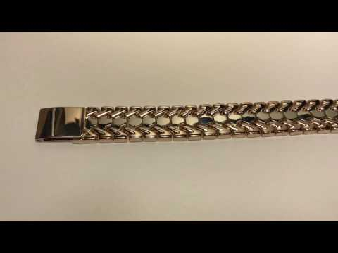Широкий мужской браслет из золото