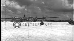 Brigadier General Haywood S. Hansell arrives in B-29 bomber at Saipan US Army Air...HD Stock Footage