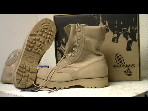 Altama 4158 Military Spec Tan Desert Boot Video Youtube