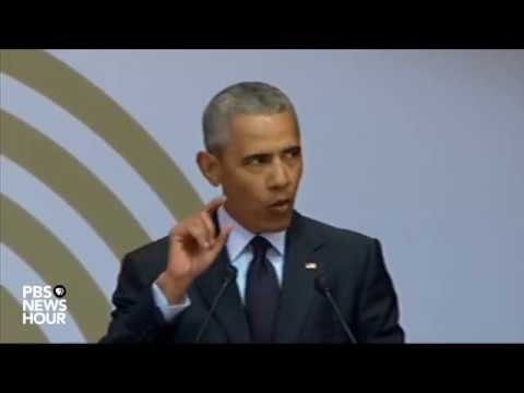WATCH: Barack Obama delivers the annual Nelson Mandela lecture in Johannesburg